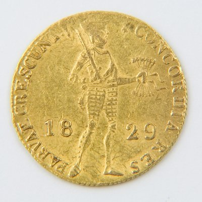 477: Netherlands, trade gold ducat, 1829