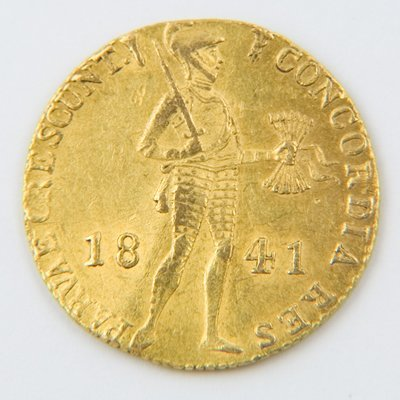 478: Netherlands, trade gold ducat, 1841