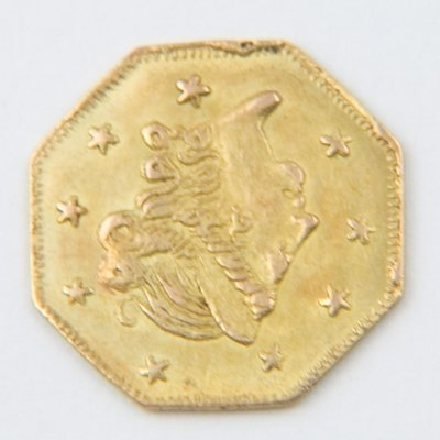 481: USA, California gold half dollar, 1871
