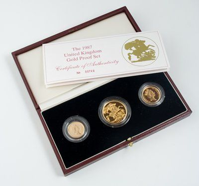 569: Elizabeth II, proof gold set, 1987