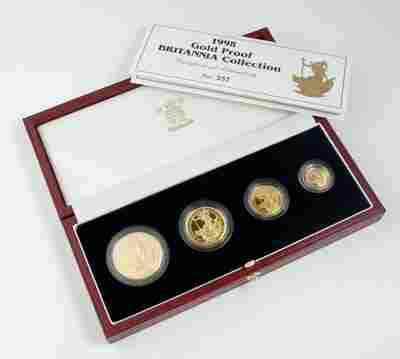 573: Elizabeth II, Britannia proof gold set, 1998