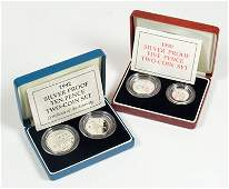 608 Elizabeth II silver proof two coin sets 2