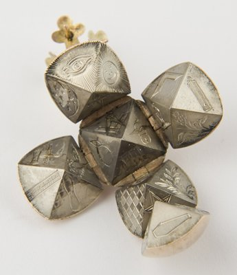 8: Antique gold and silver Masonic ball