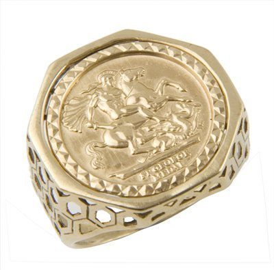 9: Gent's St George medallion ring