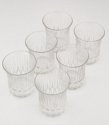 439: Set of six small Lalique glasses