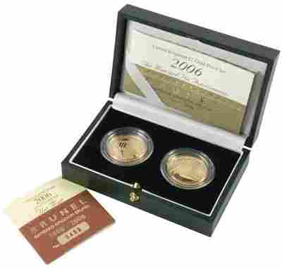 527: Elizabeth II, gold £2, two coin set, 2006