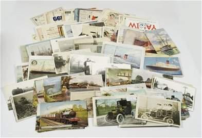 830: Postcards, transport etc. (185)