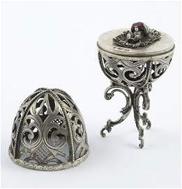 321: Russian silver christening egg