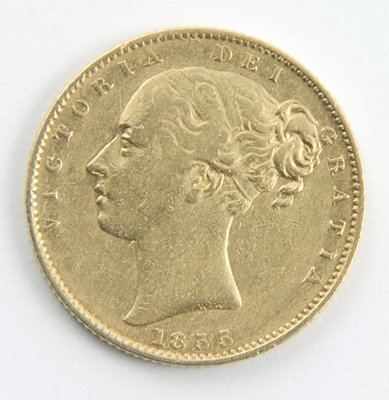 411: Victoria, young head, sovereign 1855