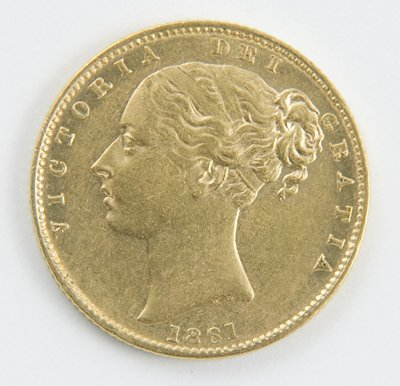 412: Victoria, young head, sovereign 1861