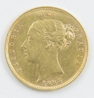 415: Victoria, half sovereign, 1885
