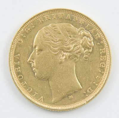 416: Victoria, young head, sovereign, 1882 M