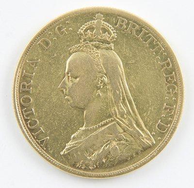 417: Victoria, jubilee head, £5 piece
