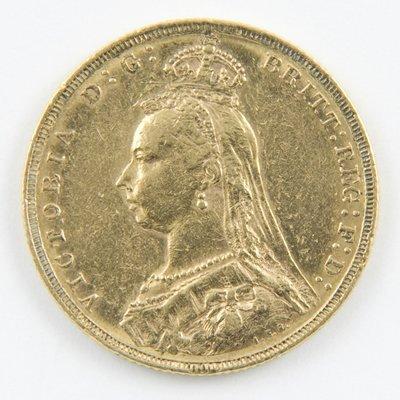 418: Victoria, jubilee head, sovereign, 1890 M