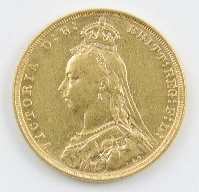 419: Victoria, jubilee head, sovereign, 1892 M