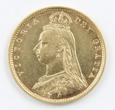 420: Victoria, jubilee head, half sovereign