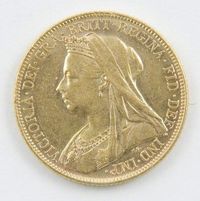 422: Victoria, old head, sovereign, 1899 M