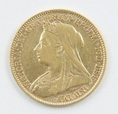 424: Victoria, old head, half sovereign, 1896