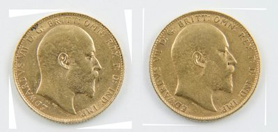 432: Edward VII, sovereigns, 1908 and 1909 (2)