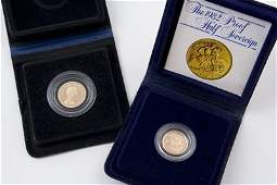 744: Elizabeth II, proof sovereign and half sovereign (