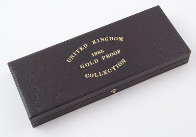 746: Elizabeth II, proof gold set, 1985 (4 coins)