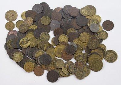 1013: British, 19th Cent. Tea checks (169)