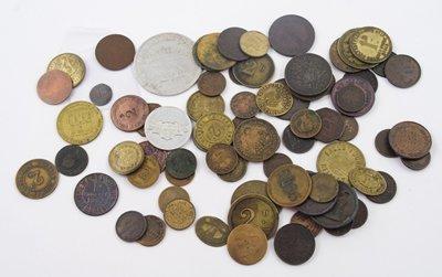 1032: Ireland, tokens etc., various (77)