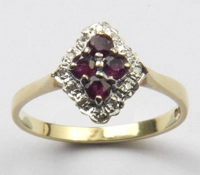 1: Ladies ruby and diamond ring