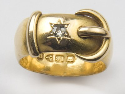 3: Antique buckle ring