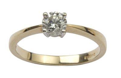 13: Ladies diamond solitaire ring