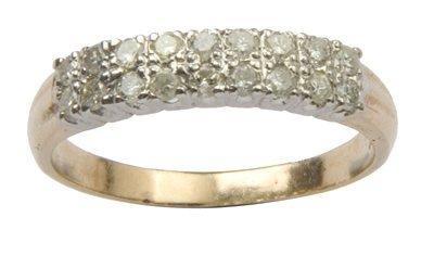 14: Ladies diamond set half eternity ring