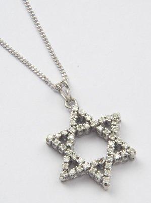17: Diamond set Star of David pendant