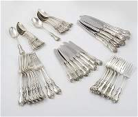 325: Silver Debussy tableware (48)