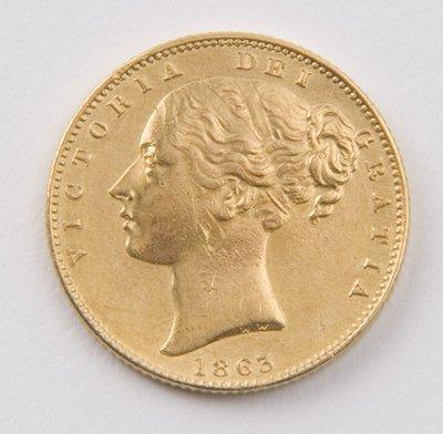 416: Victoria, sovereign, 1863