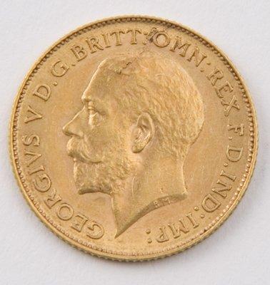 420: George V, half sovereign, 1913