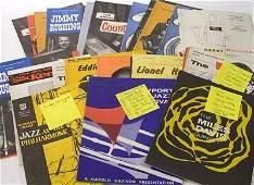 924: Autographed jazz programmes, 1950's (13) etc.