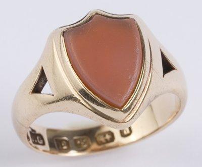 4: Gents antique carnelian ring