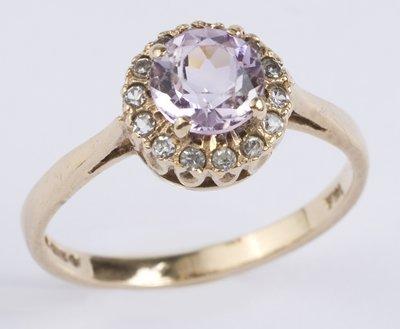 6: Ladies amethyst cluster ring