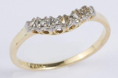 7: Ladies diamond half eternity ring