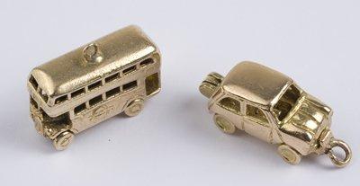 20: London bus & Mini car charms (2)