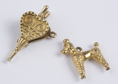 22: Bellows & poodle charms (2)