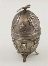 314: Russian silver egg