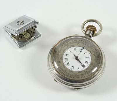 353: Pocket watch/barometer & another watch (2)