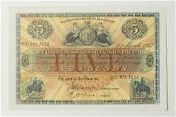 968: Union Bank of Scotland, five pounds