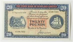 971: Union Bank of Scotland, twenty pounds