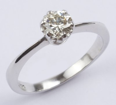 23: Ladies' white gold diamond solitaire ring