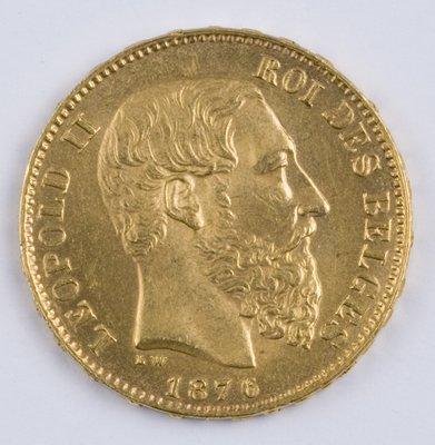 409: Belgium, 20 francs, 1876