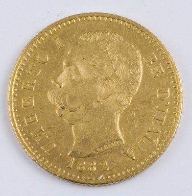 413: Italy, 20 lire, 1882 R
