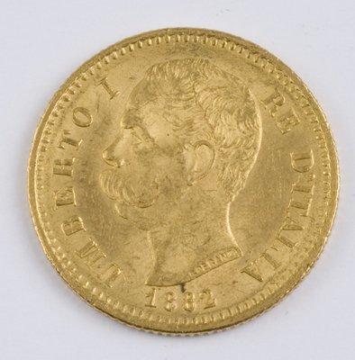 414: Italy, 20 lire, 1882 R