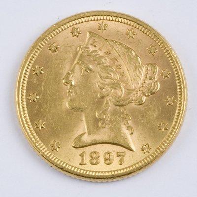 415: USA, $5 half eagle, 1897